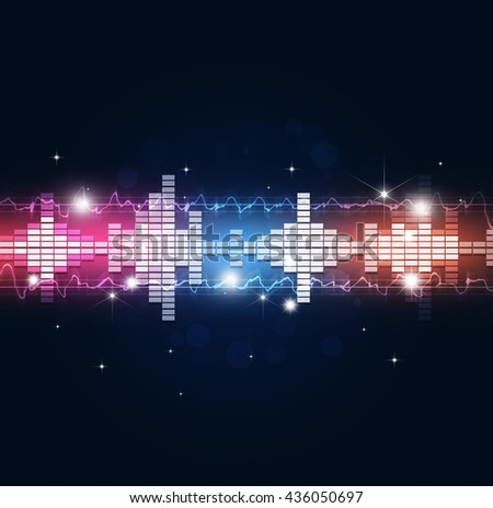 abstract music equalizer multicolor background for party events - stock photo