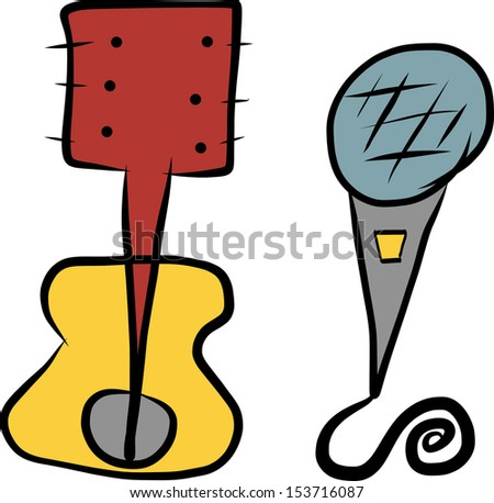 Abstract music instruments - stock photo