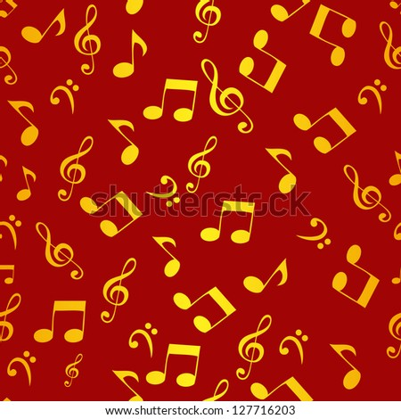 Abstract music seamless pattern background   Raster version illustration for your design - stock photo