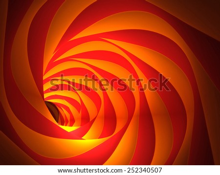 Abstract Mysterious Tunnel - stock photo