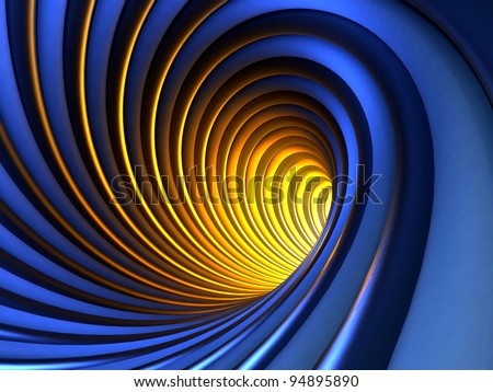 Abstract Mysterious Vortex - stock photo