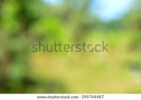 abstract nature background with blurry bokeh defocused lights - stock photo
