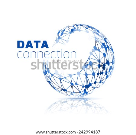 Abstract network connection. Technology background on white - stock photo