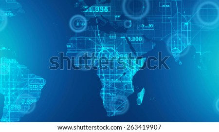 Abstract networks connections. Computer generated image.  - stock photo