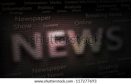 Abstract News Background - stock photo