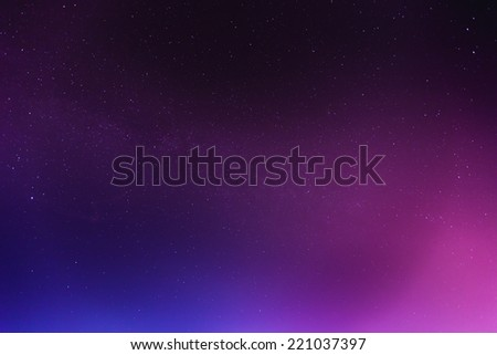 abstract night sky space and stars background - stock photo