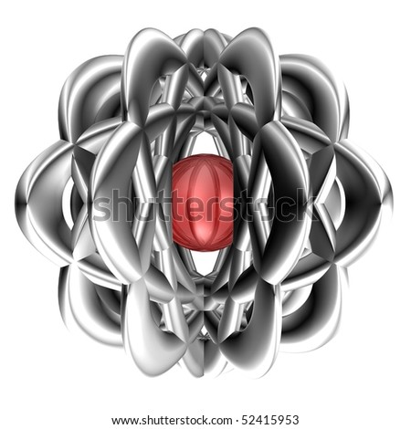 Abstract object in isolated - a 3d image - stock photo