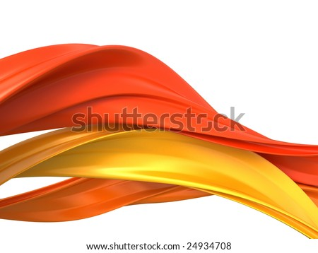 abstract objects, 3d render isolated on white - stock photo