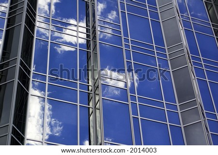 Abstract of a city building - stock photo