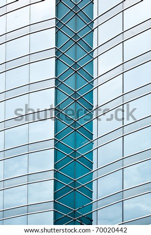 Abstract of blue glass building - stock photo