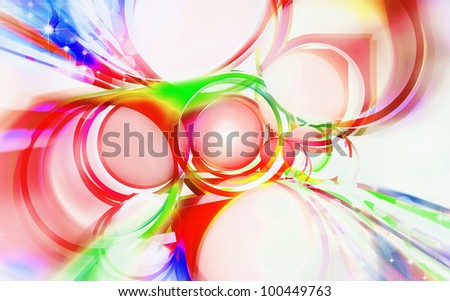 abstract of circle ,spectrum of lighting - stock photo