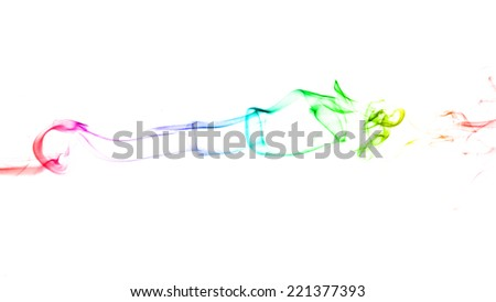 Abstract of color smoke background. - stock photo