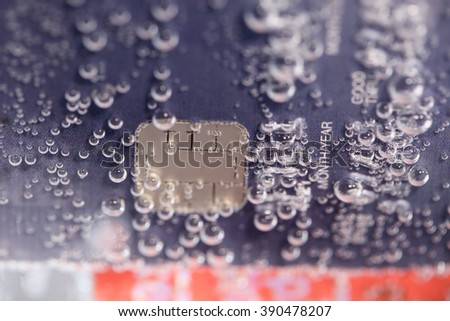 abstract of credit card background. - stock photo