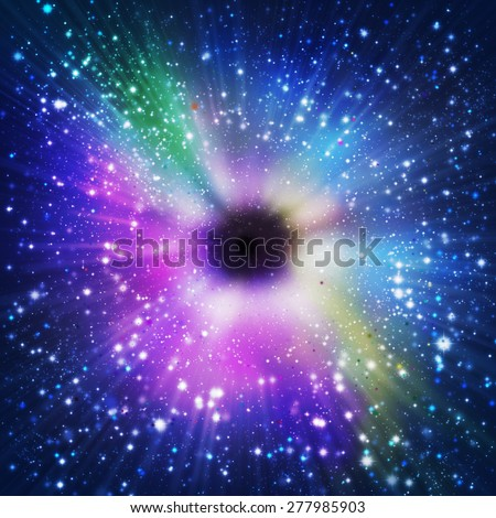 abstract of glory outer space and star dust. - stock photo