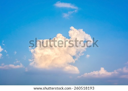 abstract of sky with clouds in the evening - stock photo