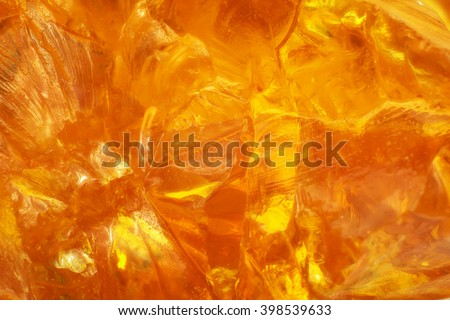 Abstract of sunlight passed throughout piece of rosin - stock photo