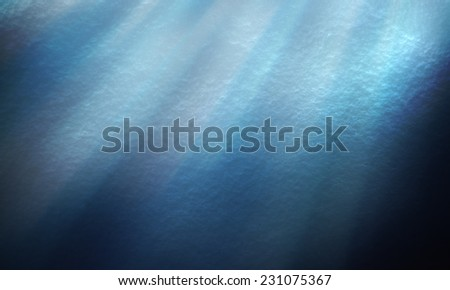 abstract of textures deep blue sea and lights underwater - stock photo