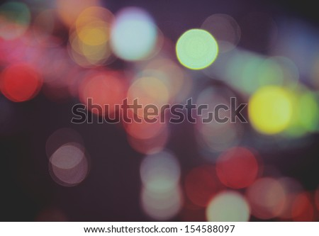 Abstract of vintage bokeh background with retro instagram filter effect - stock photo