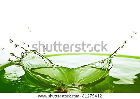 abstract of water splash - stock photo