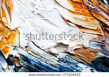 Abstract oil  painted background - stock photo