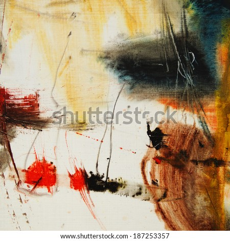 Abstract oil painting, artistic background                                - stock photo