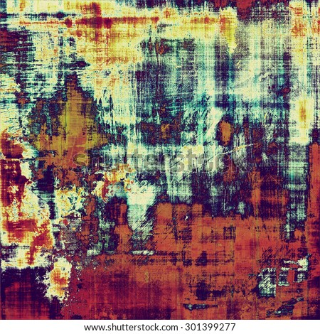 Abstract old background or faded grunge texture. With different color patterns: yellow (beige); purple (violet); blue; red (orange) - stock photo