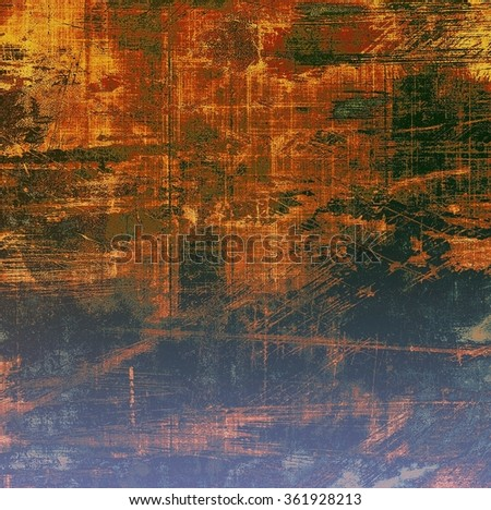 Abstract old background or faded grunge texture. With different color patterns: yellow (beige); brown; blue; green; red (orange) - stock photo