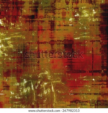 Abstract old background with rough grunge texture. With different color patterns: brown; green; red (orange) - stock photo