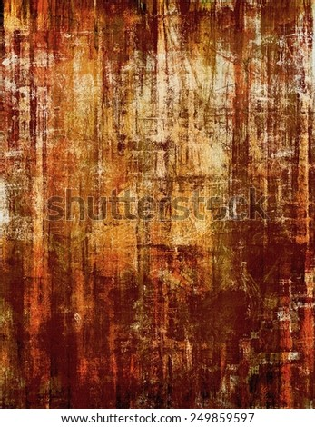 Abstract old background with rough grunge texture. With different color patterns: yellow (beige); brown; gray; red (orange) - stock photo