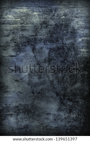 Abstract Old Grungy Background Texture (blue) - stock photo