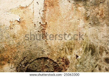 Abstract old painted and cracked wall. - stock photo