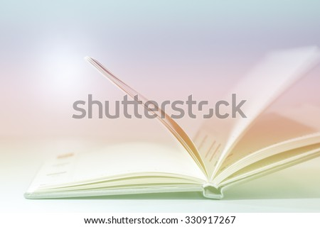 Abstract open book diary blur concept  for background - stock photo