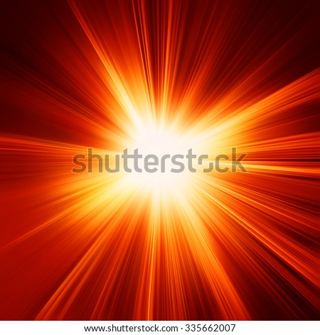 abstract orange and red sunshine or flash background - stock photo