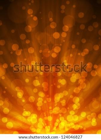 Abstract Orange background bokeh light pattern - stock photo