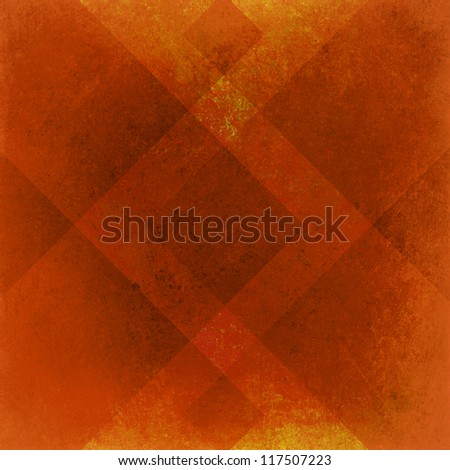 abstract orange background geometric design for fall autumn colored brochures or Thanksgiving backgrounds with classy shapes and lines forming wallpaper pattern has vintage grunge background texture - stock photo