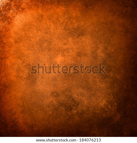 abstract orange background with old copper vintage grunge background texture wallpaper or paper - stock photo