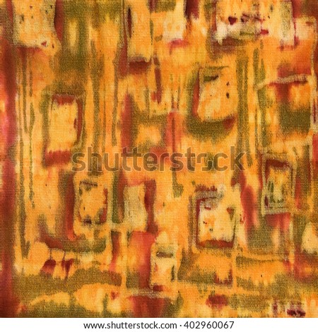 Abstract orange batik background - stock photo