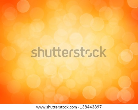 Abstract orange light bokeh. - stock photo