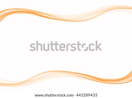Abstract orange smoke with space as background. - stock photo