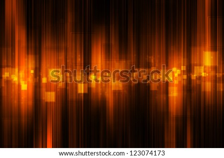 abstract orange tech background - stock photo