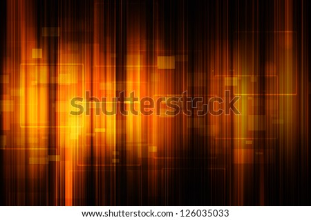 abstract orange tech background - stock photo