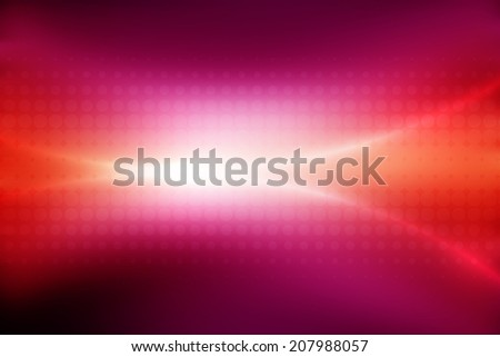 abstract orange to pink  gradient background with line and halftone - stock photo