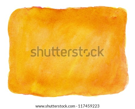 Abstract orange watercolor background. - stock photo