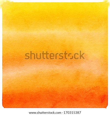 Abstract orange watercolor background - stock photo