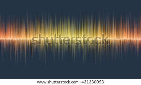 Abstract orange wave colours - stock photo