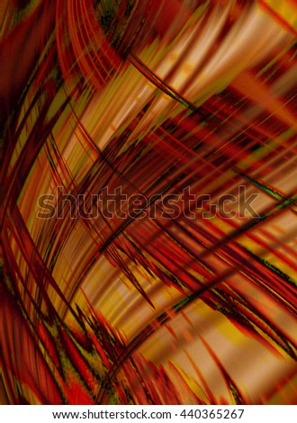 Abstract orange wavy background coated chaotic black with red stripes and waves - stock photo