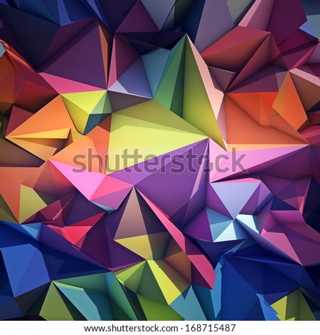Abstract origami background - stock photo