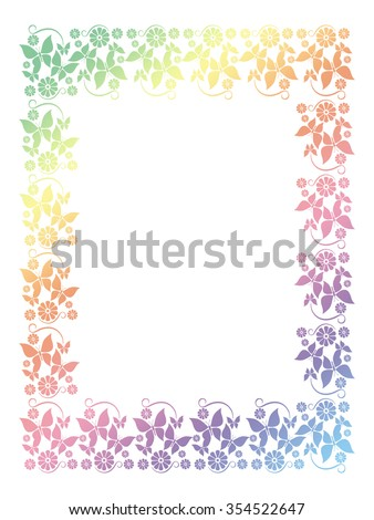 Abstract ornamental frame - stock photo