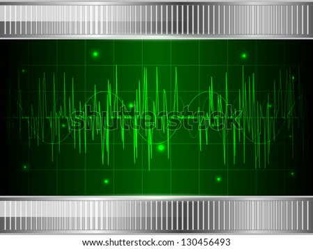 Abstract oscilloscope background. Raster version of vector illustration. - stock photo