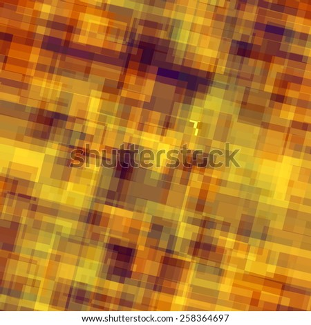 Abstract Overlaying Squares Background. Vintage Color. Geometric Grunge Pattern. Retro Art. Creative Digital Brown Backdrop. Decorative Colored Image. Grungy Wall Graphic. Distressed Texture. - stock photo